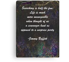 Jimmy Buffett Quote Canvas Print
