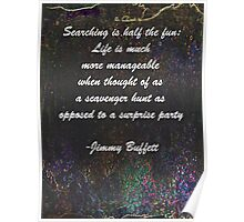 Jimmy Buffett Quote Poster