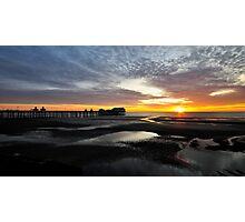 Last Light At Blackpool Photographic Print