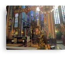 Gold & Glorious: Amsterdam Chruch at Christmas Metal Print