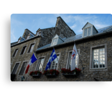 Old Stone Houses in Quebec City, Canada  Canvas Print