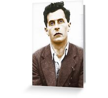 Ludwig Wittgenstein Portrait (colourized) Greeting Card