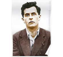 Ludwig Wittgenstein Portrait (colourized) Poster