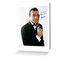 A Rare Photo of Sean Connery Signed by Roger Moore Greeting Card
