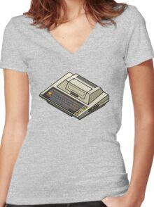 Atari 400 Women's Fitted V-Neck T-Shirt