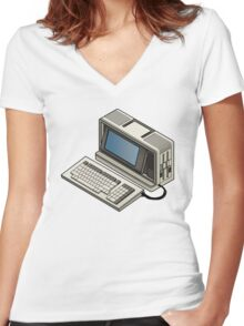 Sharp PC 7000 Women's Fitted V-Neck T-Shirt
