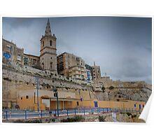 Marsamxett Creek Valletta Malta Poster