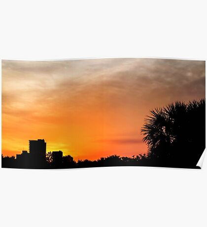 Sunset in Panama City Poster