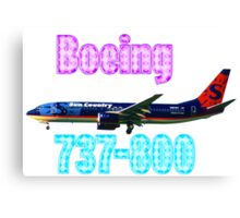 Sun Country Airlines Boeing 737-800 w text Canvas Print