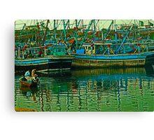 Fish Harbour Artistic Capture Canvas Print