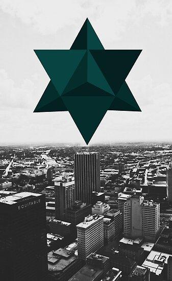 Star Tetrahedron Descent by ubikdesigns