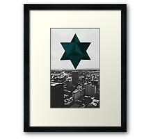 Star Tetrahedron Descent Framed Print