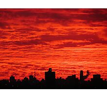 New York City skies Photographic Print