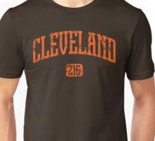 Cleveland 216 (Orange Print) Unisex T-Shirt