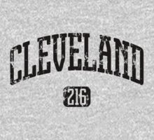 Cleveland 216 (Black Print) Kids Clothes