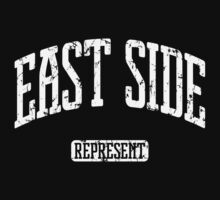 East Side Represent (White Print) Kids Tee