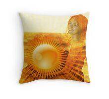 She brings sunshine wherever she goes Throw Pillow