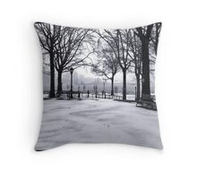 Snow in NYC Throw Pillow