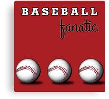 Baseball Fanatic Canvas Print