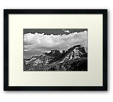 Sedona Spring Welcome in Black and White Framed Print