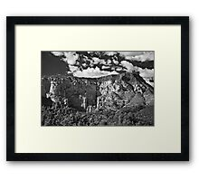 The Back Side of Sedona in Black and White Framed Print