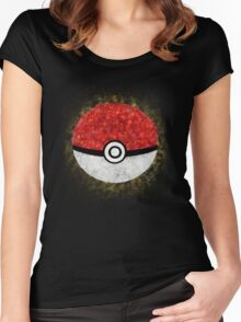 Electric Type Pokeball Women's Fitted Scoop T-Shirt