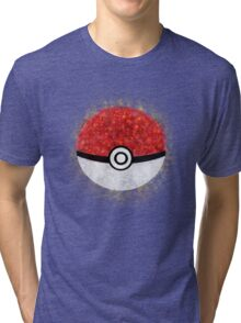 Electric Type Pokeball Tri-blend T-Shirt
