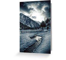 Alpine meadow under the snow - color photo - Dove l'inverno bacia il cielo Greeting Card
