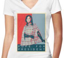 Scandal's 'Pope For President' T-Shirt Women's Fitted V-Neck T-Shirt