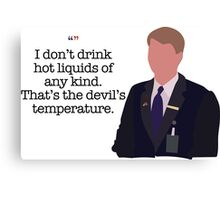 Kenneth Parcell The Devil's Temperature Canvas Print