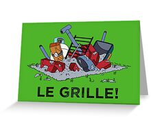 Le Grille! Greeting Card