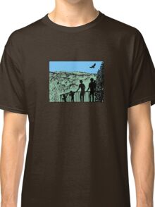 Family in nature with eagle Classic T-Shirt
