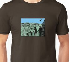 Family in nature with eagle Unisex T-Shirt