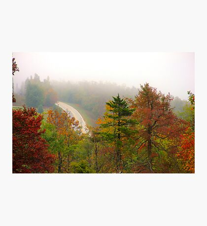 Foggy Morning Road,  Arkansas Ozarks Photographic Print