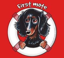 Longhaired Black/Tan Dachshund : First Mate by offleashart