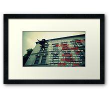 Sherlock - The Fall Framed Print
