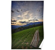 Sunset on the Alps landscape color wall art - Mancate solo voi due Poster