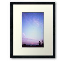 Lomography medium format color film landscape photography Mount Baker at sunset Pacific Northwest - Il Gigante e la Luna Framed Print