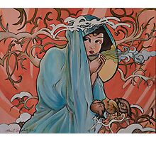 Mucha Winter with Tea Photographic Print