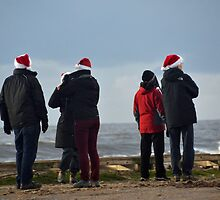 A Cluster Of Santa's by lynn carter