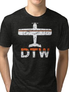 Fly Detroit DTW Airport Tri-blend T-Shirt