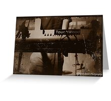 Touchwood Keyboard Print/Card/Poster Greeting Card