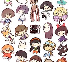 Studio Ghibli - Chibi Characters Collaboration [VERTICAL] by Andrew Choo