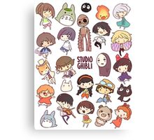 Studio Ghibli - Chibi Characters Collaboration [VERTICAL] Canvas Print