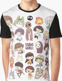 Studio Ghibli - Chibi Characters Collaboration [VERTICAL] Graphic T-Shirt