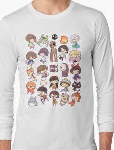 Studio Ghibli - Chibi Characters Collaboration [VERTICAL] Long Sleeve T-Shirt