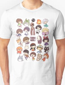 Studio Ghibli - Chibi Characters Collaboration [VERTICAL] Unisex T-Shirt