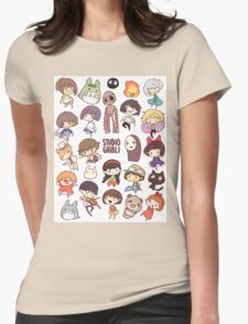 Studio Ghibli - Chibi Characters Collaboration [VERTICAL] Womens Fitted T-Shirt