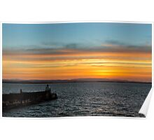 BURGHEAD BOXING DAY SUNSET Poster