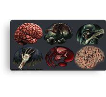 Zombie Illustration Assignment Canvas Print